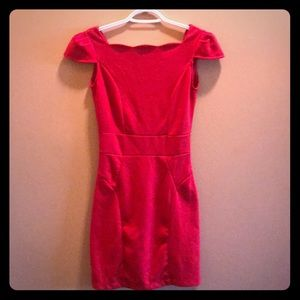 Dresses & Skirts - ❤️ Cap-sleeve Dress with Scalloped Neckline ❤️